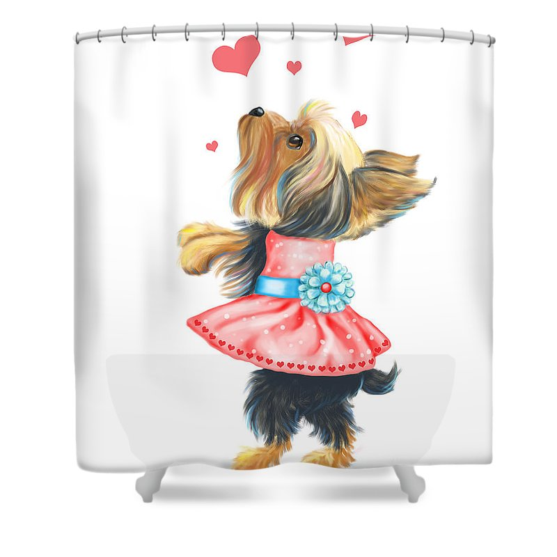 Catia Shower Curtain featuring the mixed media Love Without Ends by Catia Lee