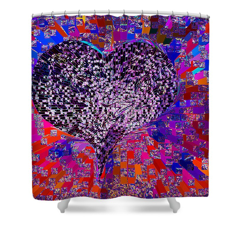 💗love's Abyss And All About This Shower Curtain featuring the mixed media Love's Abyss And All About This by Kenneth James