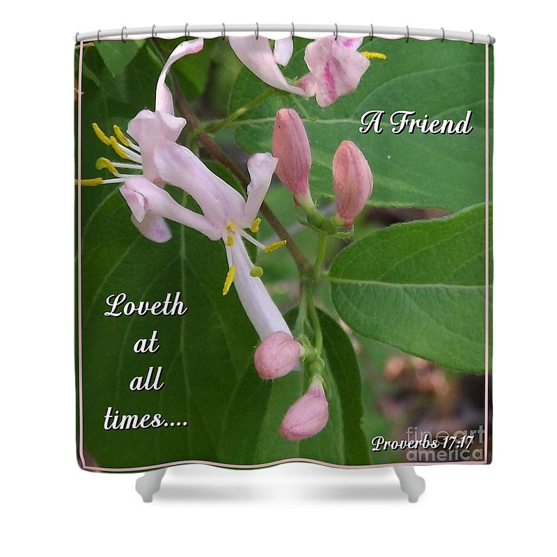 Flowers Shower Curtain featuring the photograph Loveth At All Times by Sara Raber