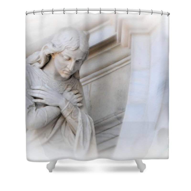 Angel Shower Curtain featuring the photograph Loving Angel by Kathleen Struckle