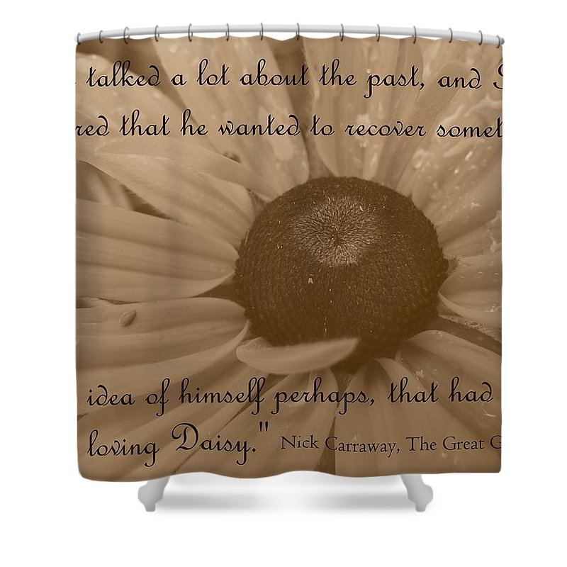 Loving Daisy Shower Curtain featuring the photograph Loving Daisy by Barbara St Jean