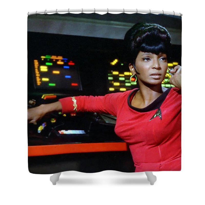 Lt. Uhura Shower Curtain featuring the photograph Lt Uhura by Mountain Dreams