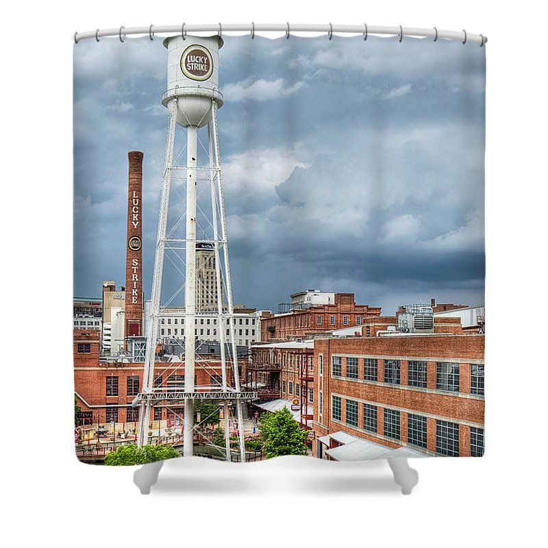 Durham Shower Curtain featuring the photograph Lucky Strike by Emily Kay
