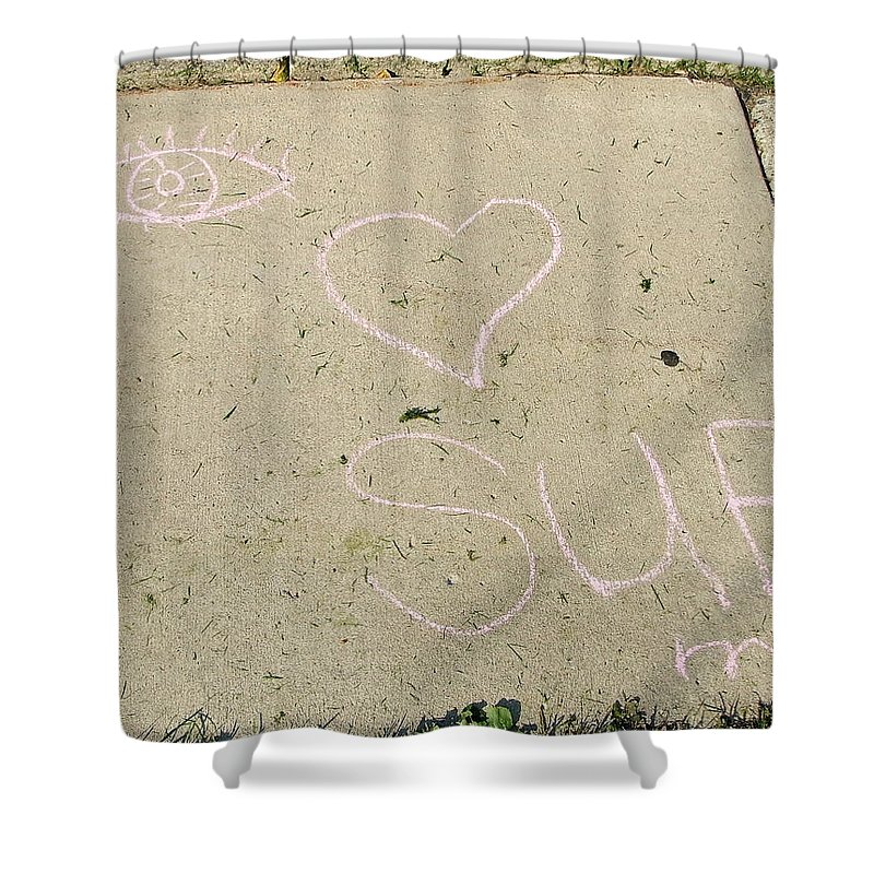 Lovely Shower Curtain featuring the photograph Lucky Sue by Susan Wyman