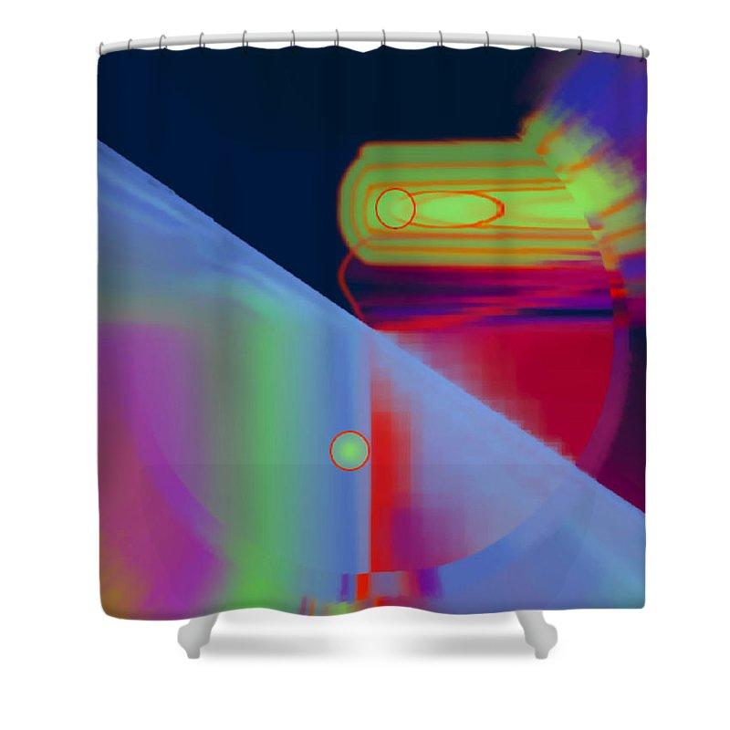 Luminaries Shower Curtain featuring the digital art Luminaries by Fli Art