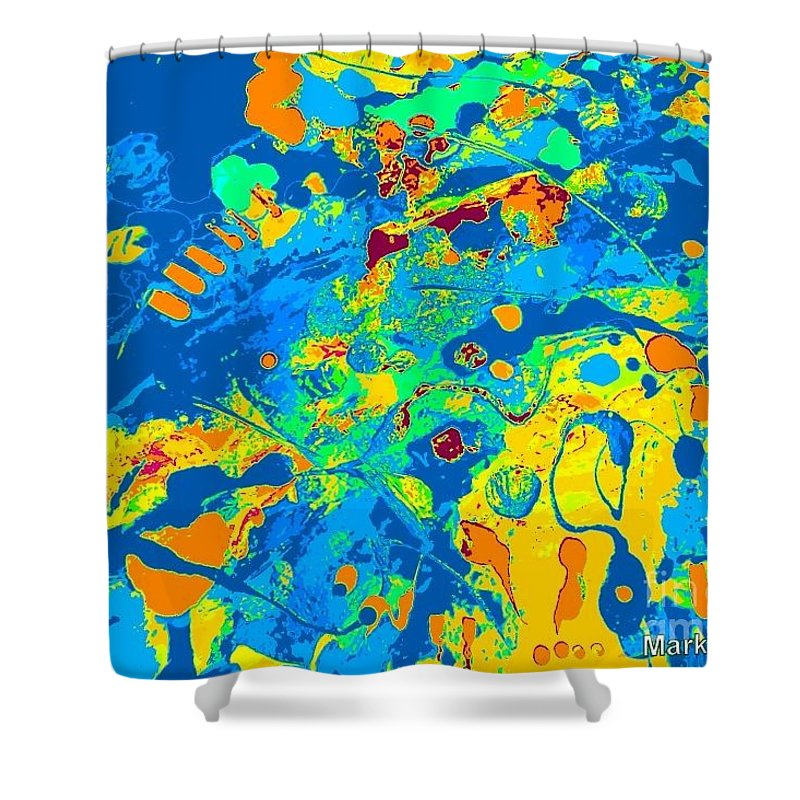 Brightly Colored Shower Curtain featuring the painting Lumineers by Mark Herman