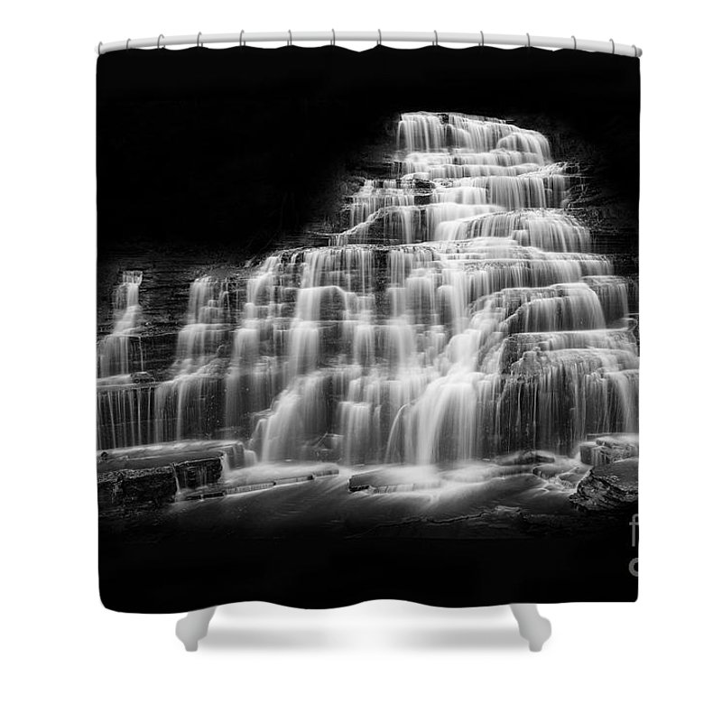 Michele Shower Curtain featuring the photograph Luminous Waters Vii by Michele Steffey