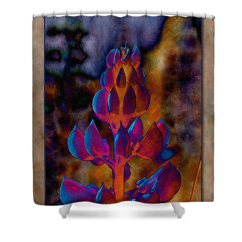 Lupin Shower Curtain featuring the photograph Lupin Glow by WB Johnston
