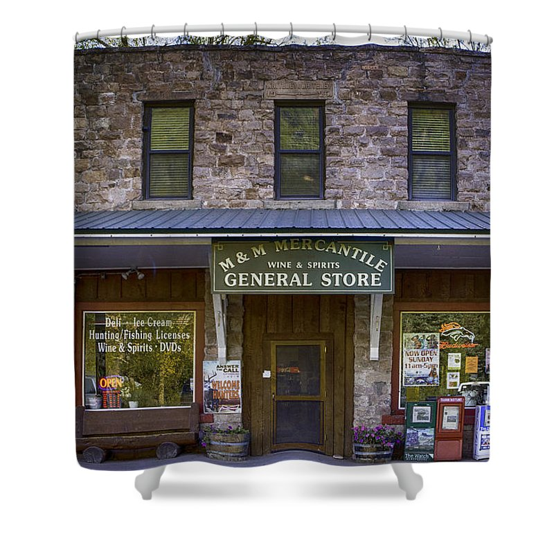 Colorado Shower Curtain featuring the photograph M And M Mercantile by Jerry Fornarotto