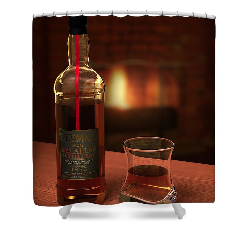 3d Shower Curtain featuring the photograph Macallan 1973 by Adam Romanowicz