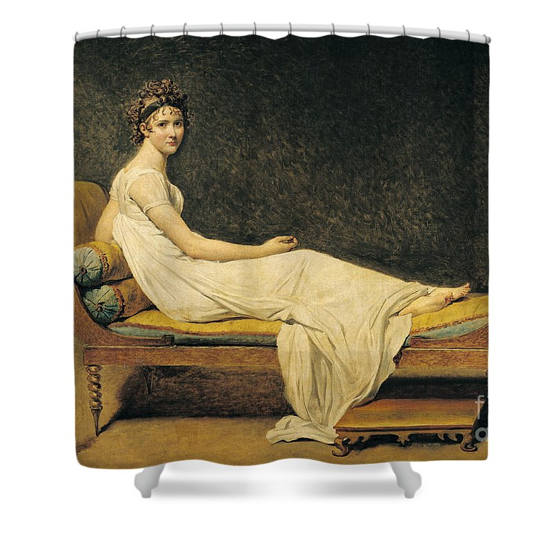 Portrait Shower Curtain featuring the painting Madame Recamier by Jacques Louis David