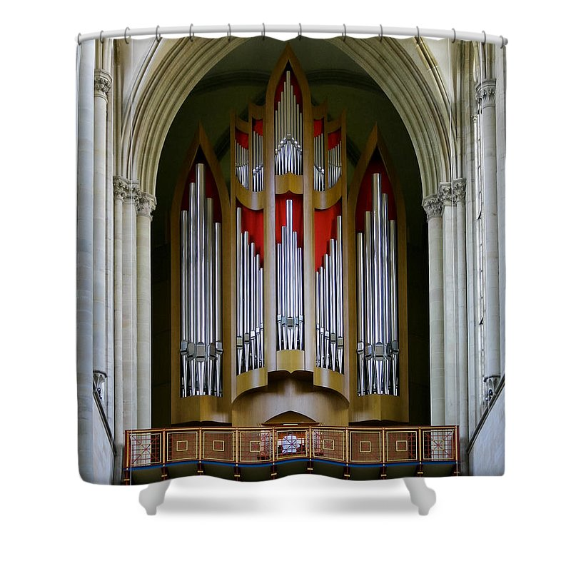 Magdeburg Shower Curtain featuring the photograph Magdeburg Cathedral Organ by Jenny Setchell