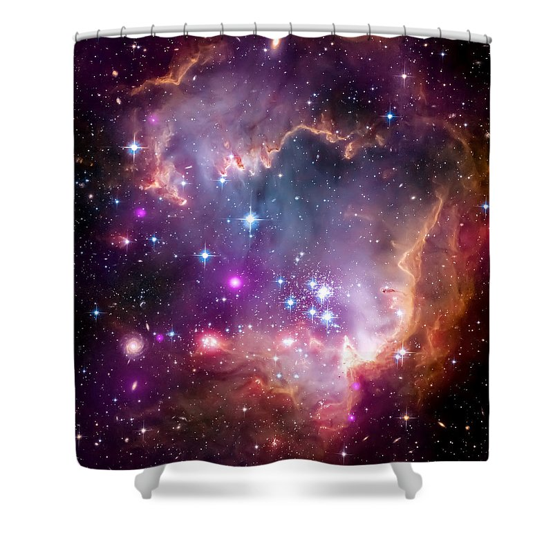 Universe Shower Curtain featuring the photograph Magellanic Cloud 3 by Jennifer Rondinelli Reilly - Fine Art Photography