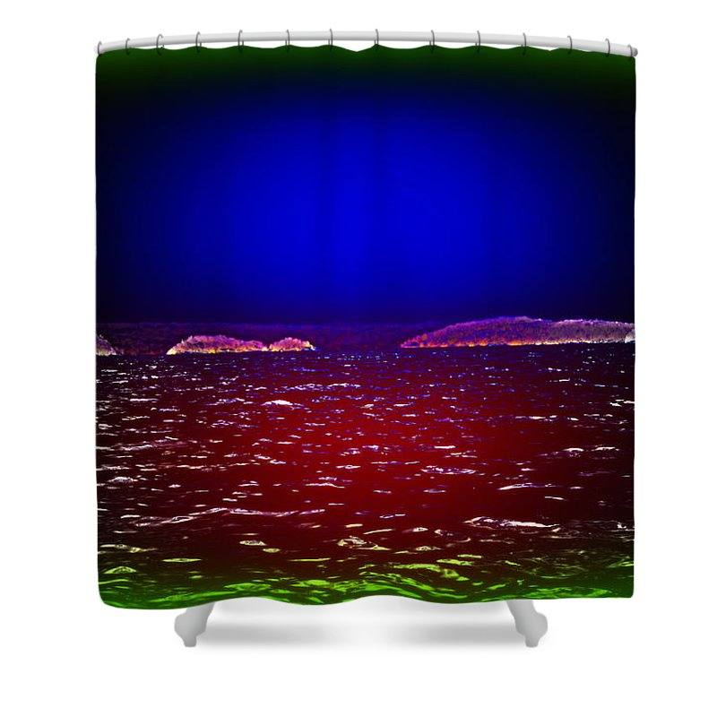Sea Shower Curtain featuring the photograph Can You See This Magic Seascape Or Is It Only Me by Hilde Widerberg
