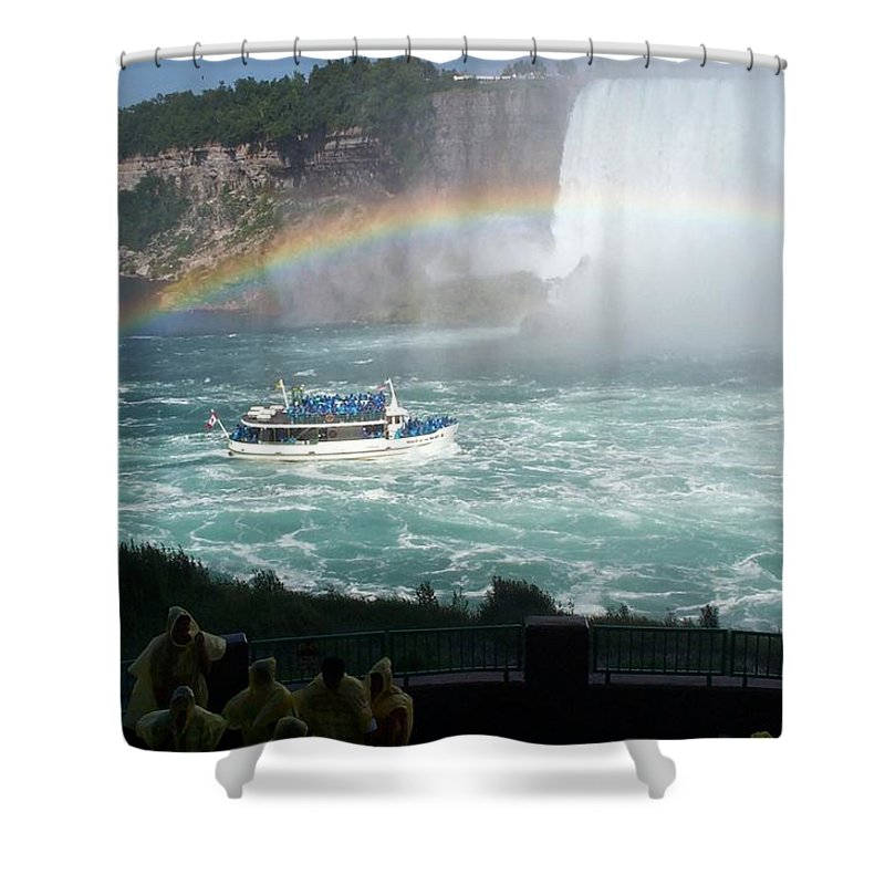 Boat Shower Curtain featuring the photograph Maid Of The Mist -41 by Barbara McDevitt