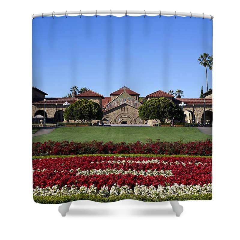 Stanford University Shower Curtain featuring the photograph Main Quad Stanford California by Jason O Watson