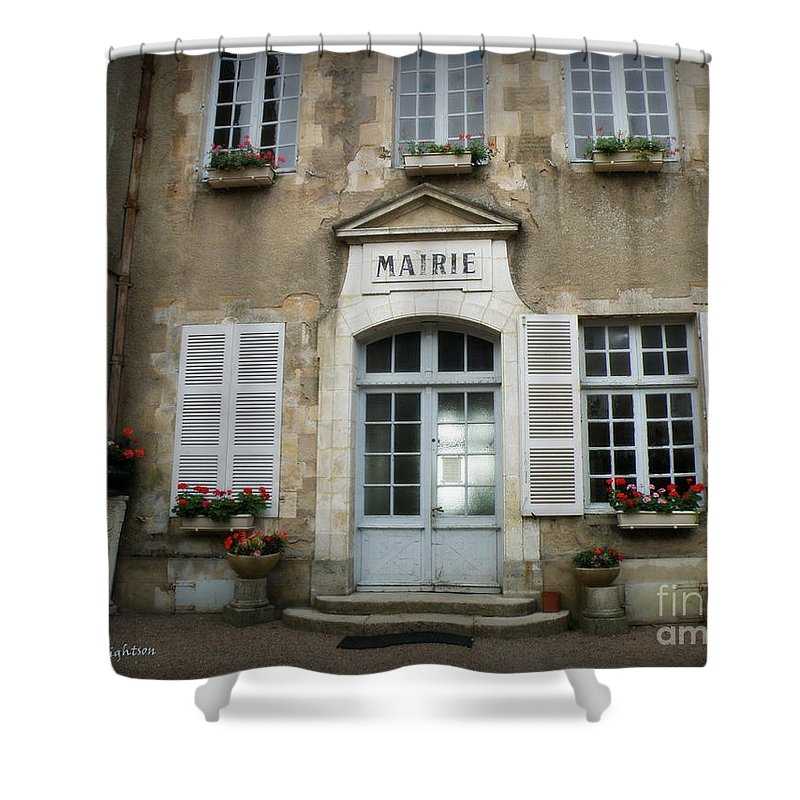 Mairie Shower Curtain featuring the photograph Mairie by Lainie Wrightson