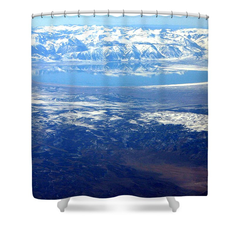 Mountains Shower Curtain featuring the photograph Majestic Reflection by Mac Kenney