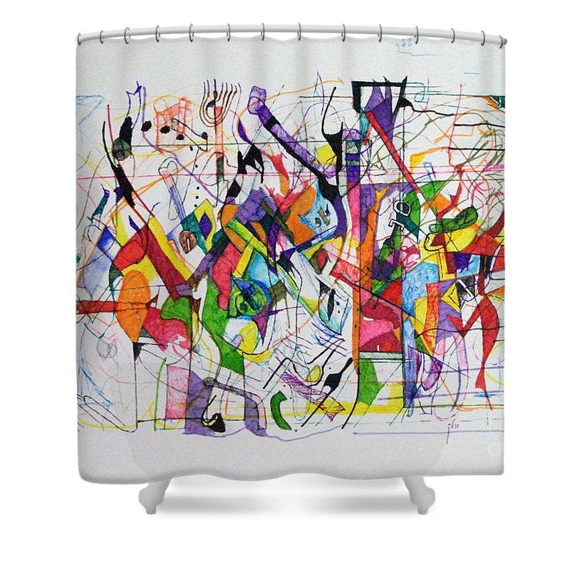 Torah Shower Curtain featuring the drawing Make A Fence For The Torah 2 by David Baruch Wolk