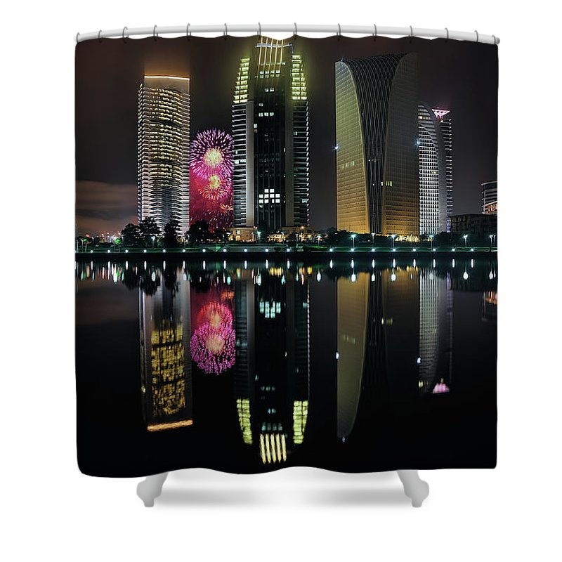 Tranquility Shower Curtain featuring the photograph Malaysia 56th Independence Day by Photography By Azam Alwi