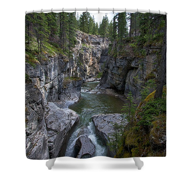 Maligne Canyon Shower Curtain featuring the photograph Maligne Canyon #2 by Stuart Litoff