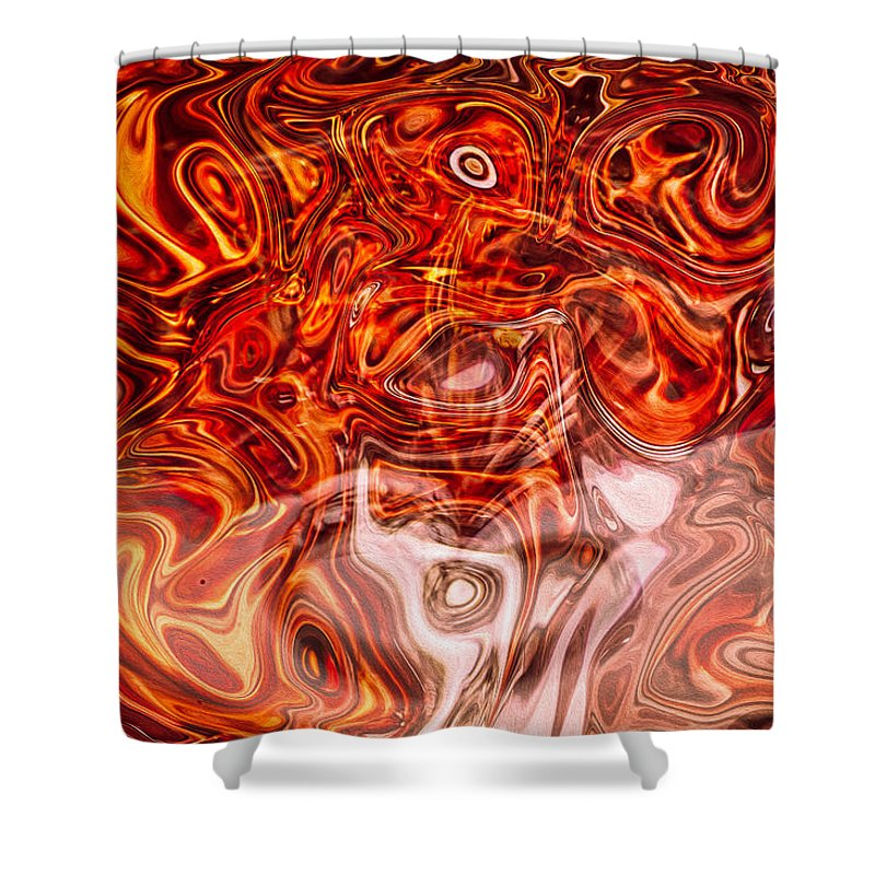 Georgia Okeefe Shower Curtain featuring the painting Managing My Desires by Omaste Witkowski