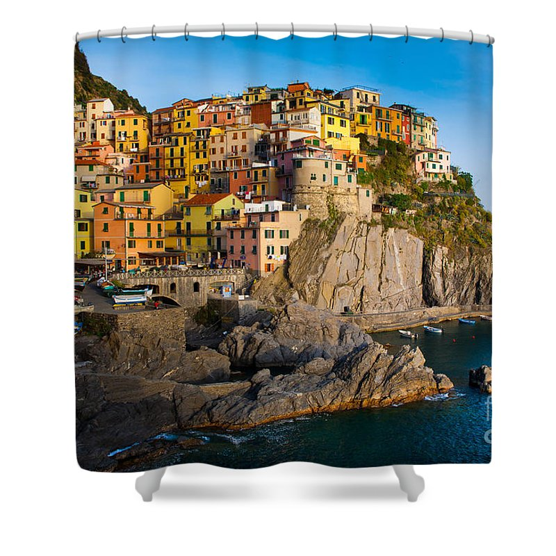 Architectural Shower Curtain featuring the photograph Manarola by Inge Johnsson