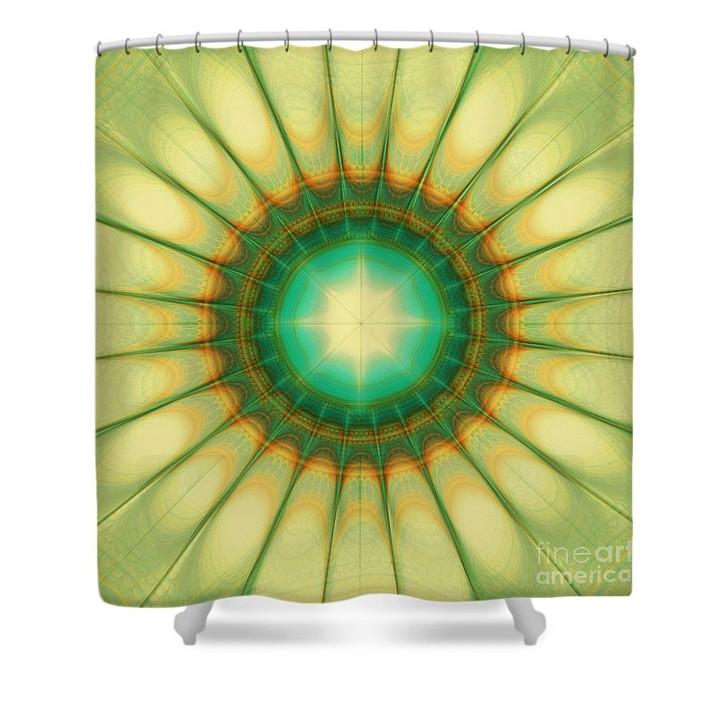Hope Shower Curtain featuring the digital art Mandala Of The Hope by Klara Acel