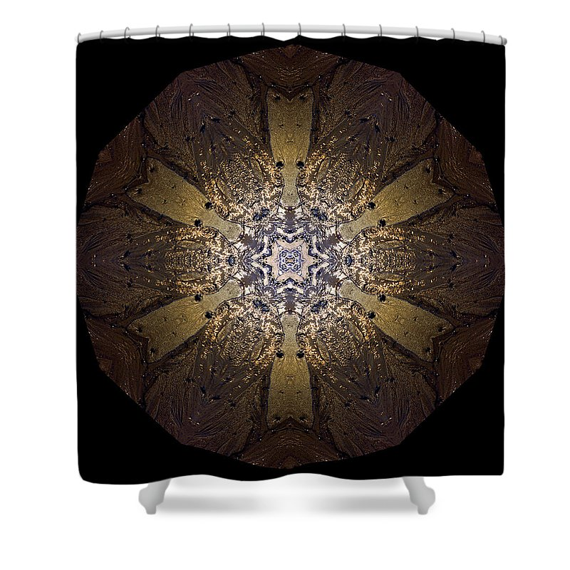 Mandala Shower Curtain featuring the photograph Mandala Sand Dollar at Wells by Nancy Griswold