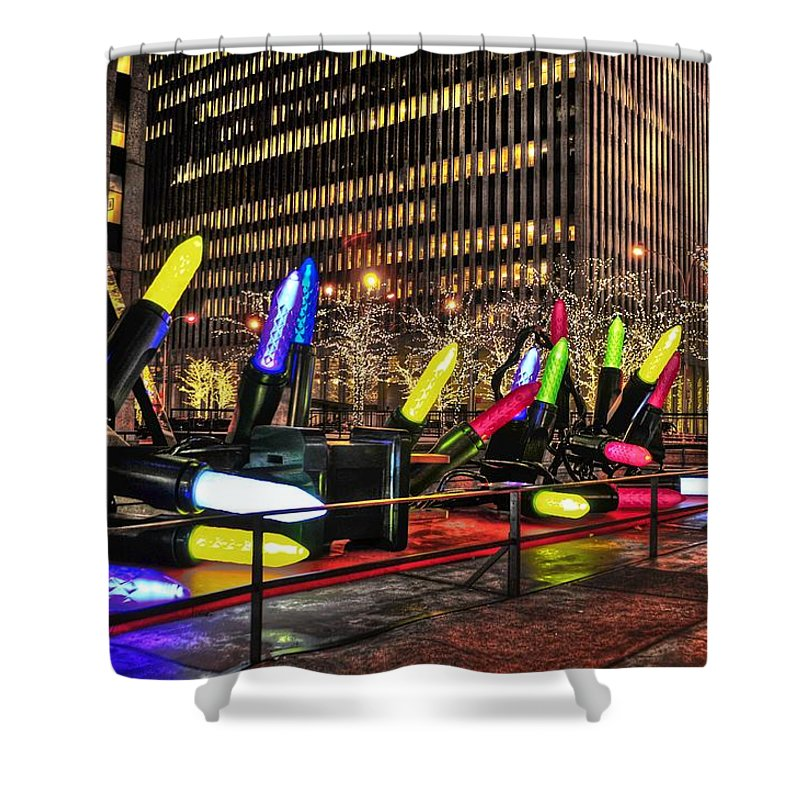 Holidays Shower Curtain featuring the photograph Manhattan Holiday Decorations by Randy Aveille