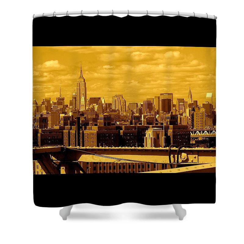 Manhattan Ny Prints Shower Curtain featuring the photograph Manhattan Skyline by Monique's Fine Art