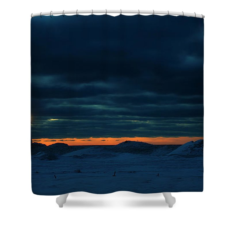 Manistee Shower Curtain featuring the photograph Manistee Lighthouse 5 by Allan Lovell