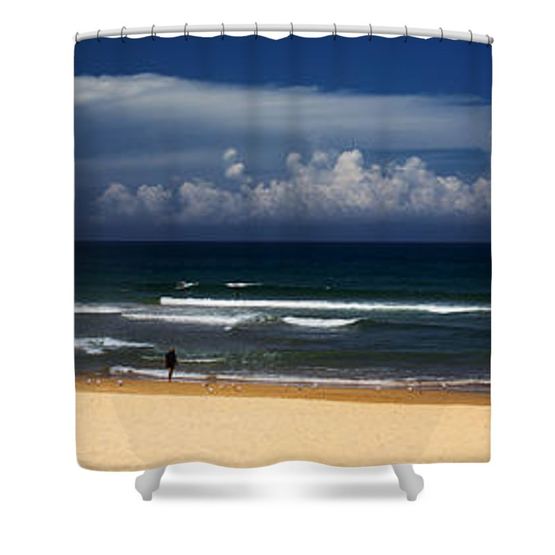 Manly Beach Shower Curtain featuring the photograph Manly Beach panorama by Sheila Smart Fine Art Photography