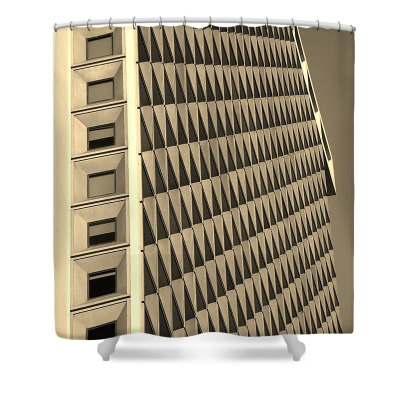 Scenic Shower Curtain featuring the photograph Many Windows In Sepia by Rob Hans