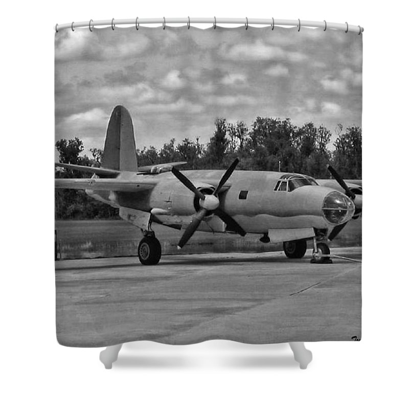 Martin B-26 Marauder Shower Curtain featuring the photograph Marauder by Tommy Anderson