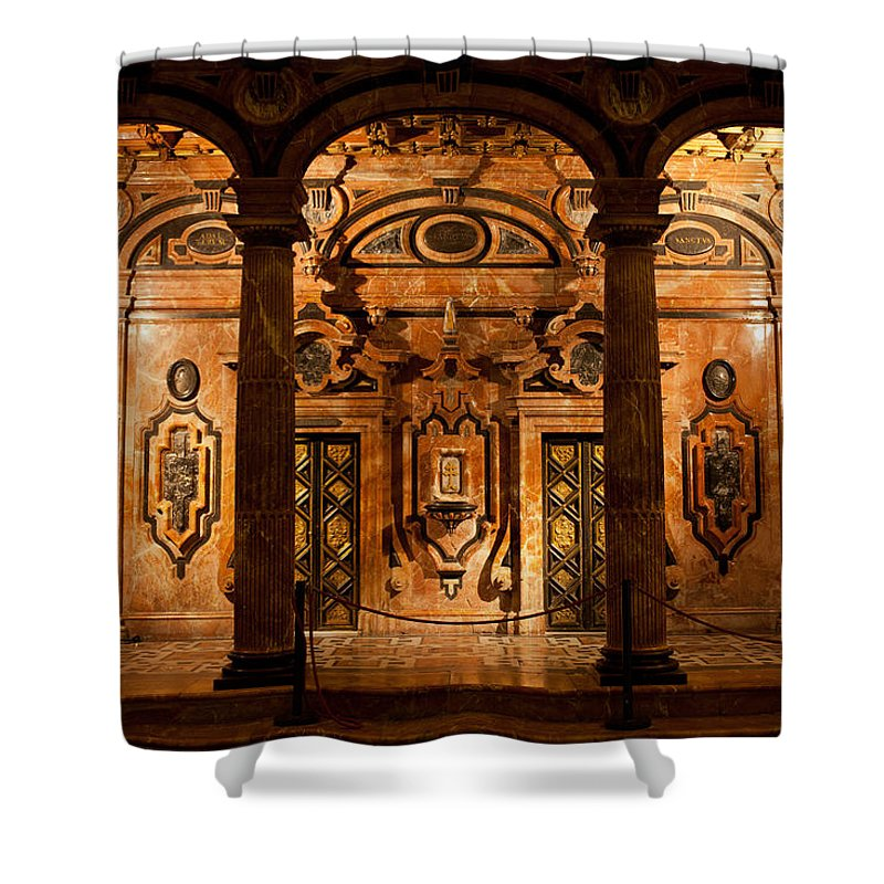 Seville Shower Curtain featuring the photograph Marble Decor In The Sevilla Cathedral by Artur Bogacki