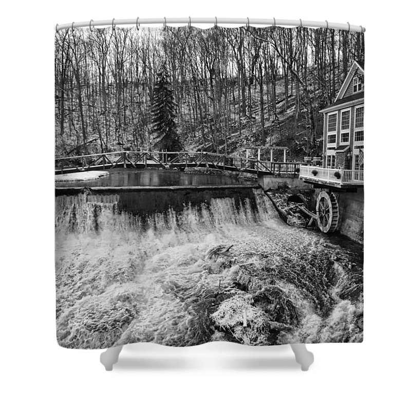 Landscape Shower Curtain featuring the photograph Marcellus Falls I by Rennae Christman