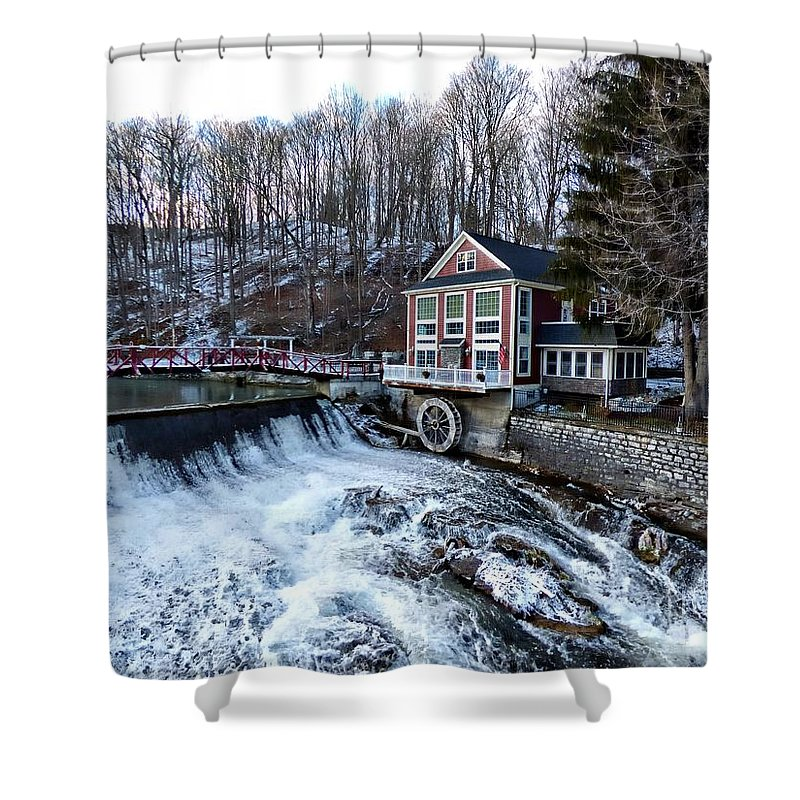 Landscape Shower Curtain featuring the photograph Marcellus Falls llll by Rennae Christman