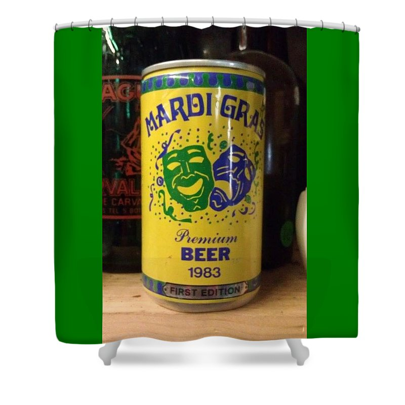 Mardi Gras Shower Curtain Featuring The Photograph Beer 1983 By Deborah Lacoste