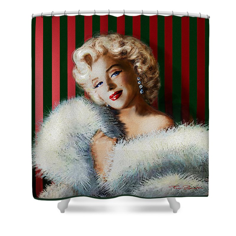 Theo Danella Shower Curtain featuring the painting Marilyn 126 D 3 by Theo Danella