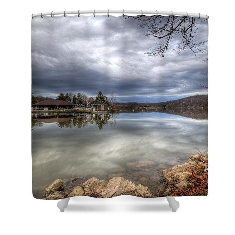 Marina Shower Curtain featuring the photograph Marina In Hibernation by David Dufresne