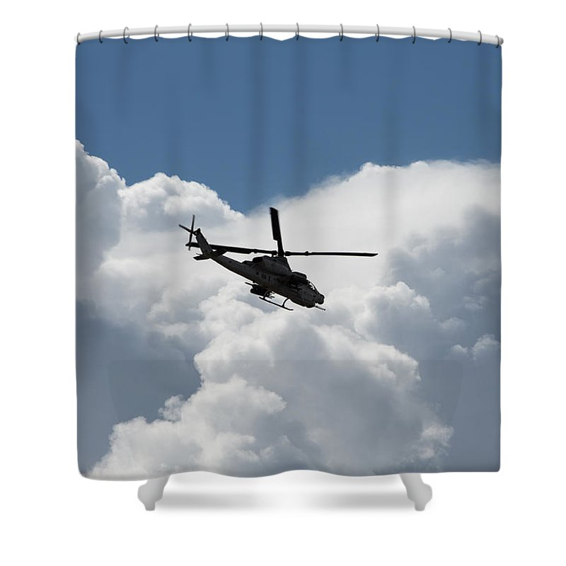 Marine Shower Curtain featuring the photograph Marine Cobra by John Daly