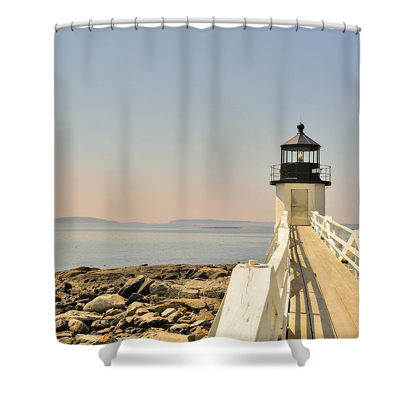Marshall Point Lighthouse Shower Curtain featuring the photograph Marshall Point Lighthouse Maine by Marianne Campolongo