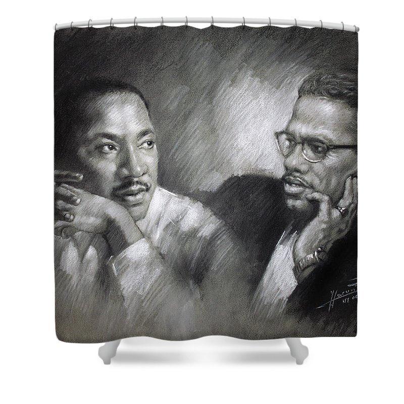 Jr. CANVAS President Johnson and Martin Luther King Art Print POSTER