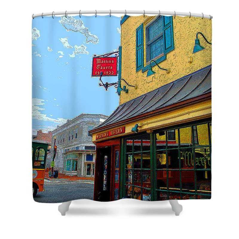 Jackie Shower Curtain featuring the photograph Martins Tavern by Jost Houk