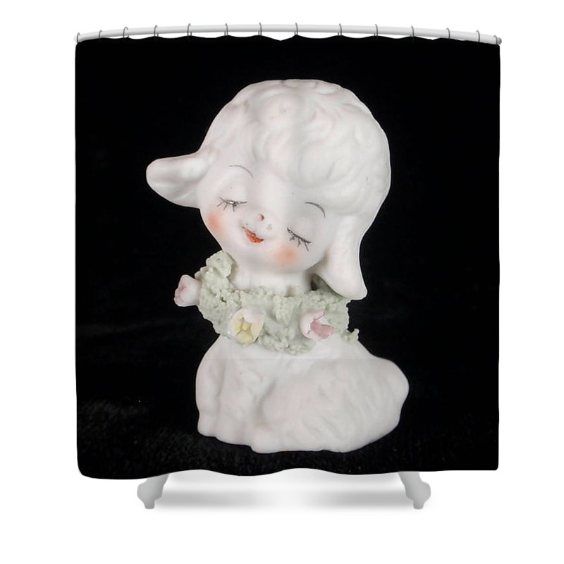 Lamb Shower Curtain featuring the photograph Mary Had A Little Lamb by Kathy Clark