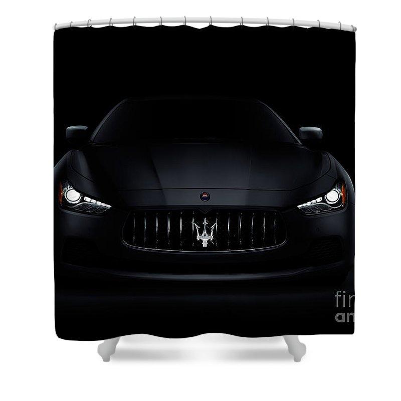 Maserati Ghibli S Q4 Luxury Car On Black Shower Curtain For Sale By Oleksiy Maksymenko