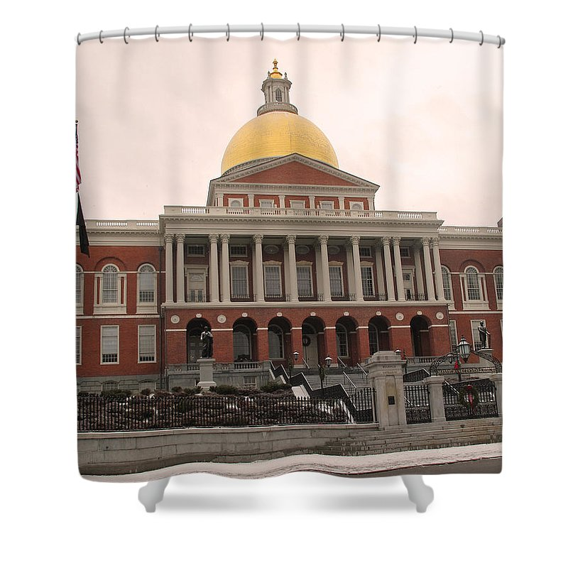 Massachusetts Shower Curtain featuring the photograph Massachusetts State House by Barbara McDevitt