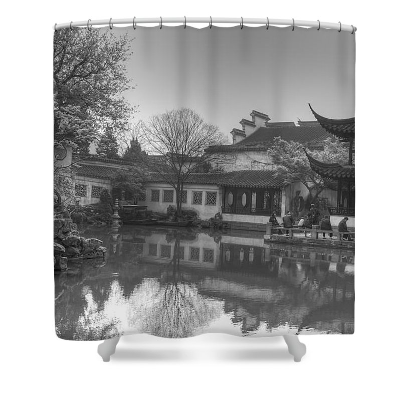Suzhou Shower Curtain featuring the photograph Master Of The Nets Garden by Bill Hamilton