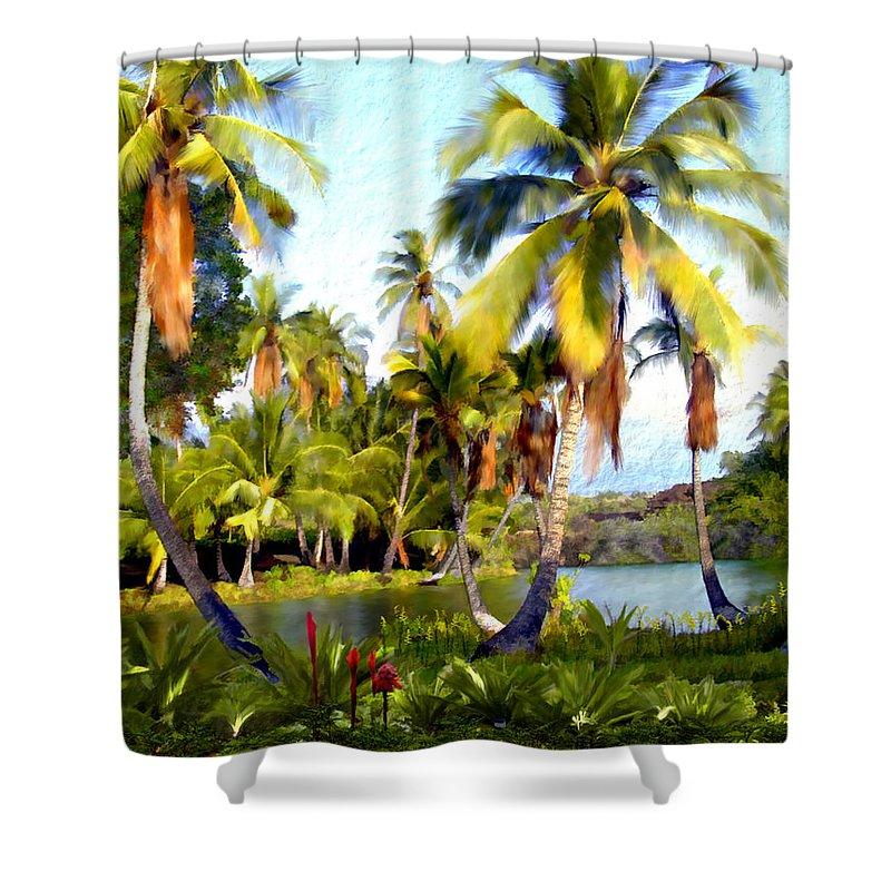 Hawaii Shower Curtain featuring the photograph Mauna Lani Fish Ponds by Kurt Van Wagner